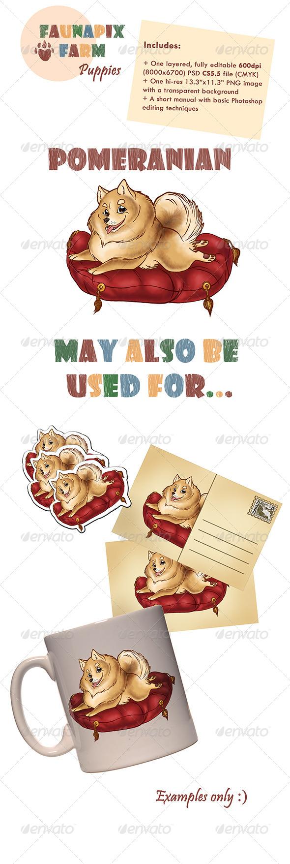 GraphicRiver Pomeranian Pup Illustration 7426475