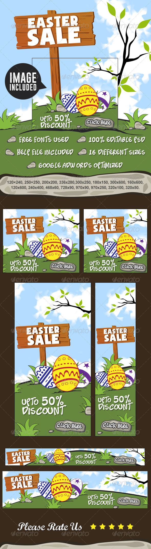 GraphicRiver Easter Sale Banners 7428375