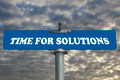 Time for solutions road sign - PhotoDune Item for Sale