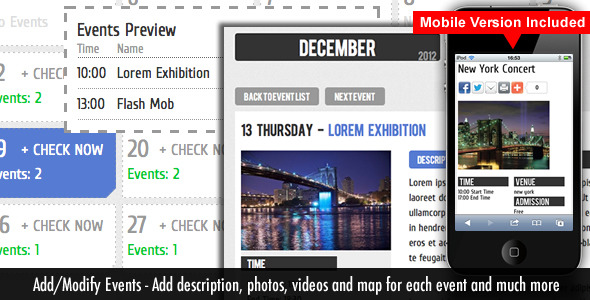 Events Calendar - CodeCanyon Item for Sale
