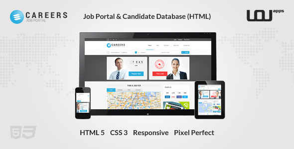 CAREERS - Job Portal & Candidate Database (HTML) - Miscellaneous Site Templates