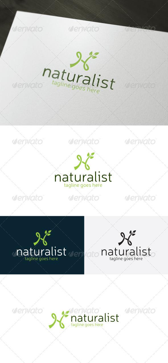 GraphicRiver Naturalist Logo Letter N 7436562