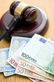 judge gavel and euro currency - PhotoDune Item for Sale