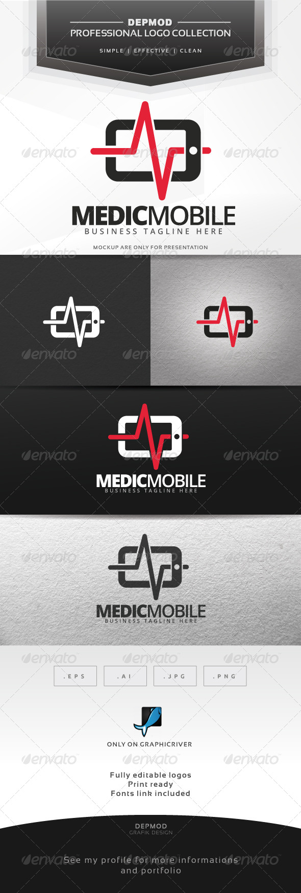 GraphicRiver Medic Mobile Logo 7437932