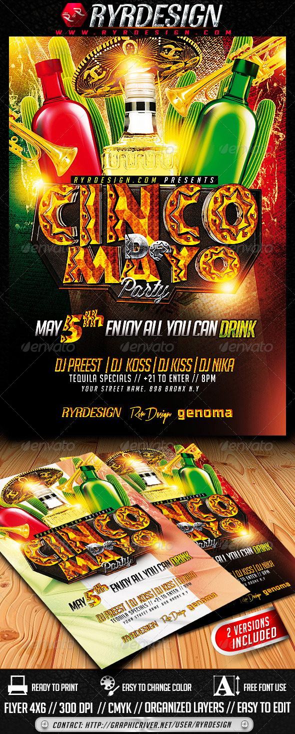 GraphicRiver Cinco de Mayo Flyer Template 7438137