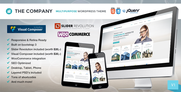 ThemeForest The Company Responsive Multi-Purpose Theme 7438138
