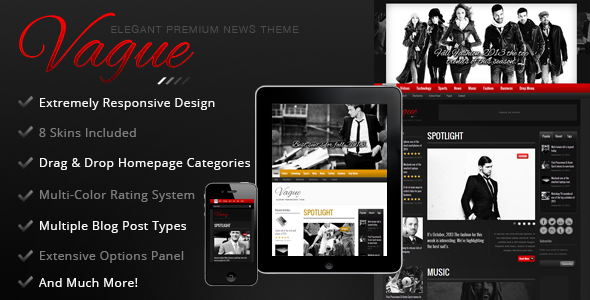 Vague - Premium Responsive News Magazine Theme - News / Editorial Blog / Magazine