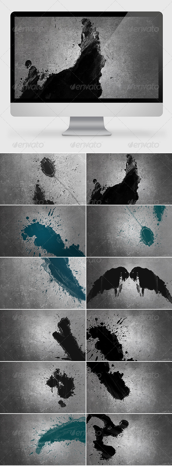GraphicRiver Splat Backgrounds Wallpapers 7439755