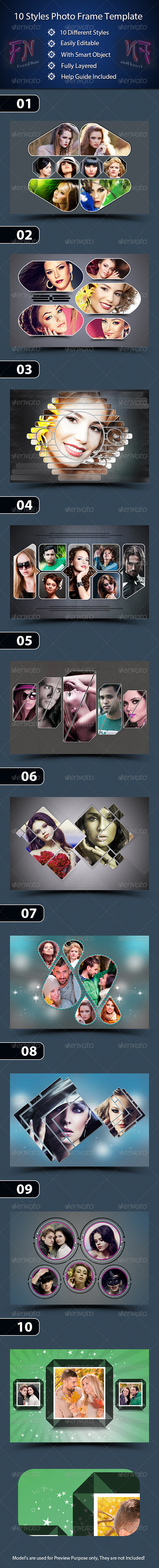GraphicRiver 10 Styles Photo Frame Template 7439822