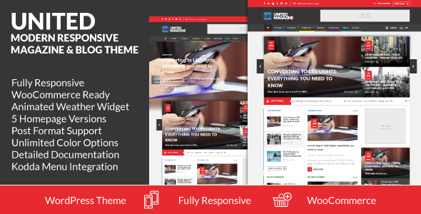 ThemeForest United Modern Responsive Magazine & Blog Theme 7440188