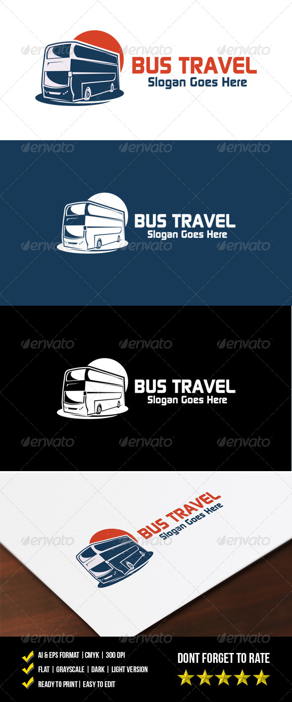 GraphicRiver Bus Travel Logo 7440961