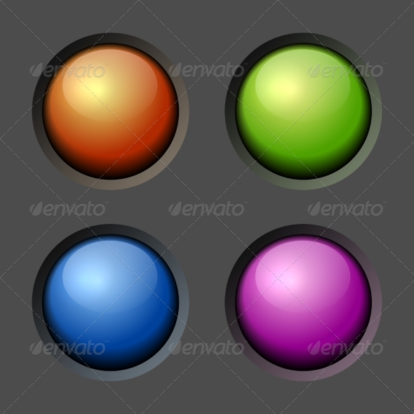 GraphicRiver Design Elements Color Buttons and Bulbs 7440970