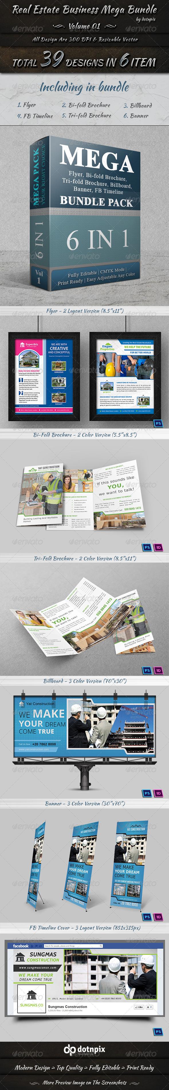 GraphicRiver Real Estate Business Mega Bundle Volume 1 7436450