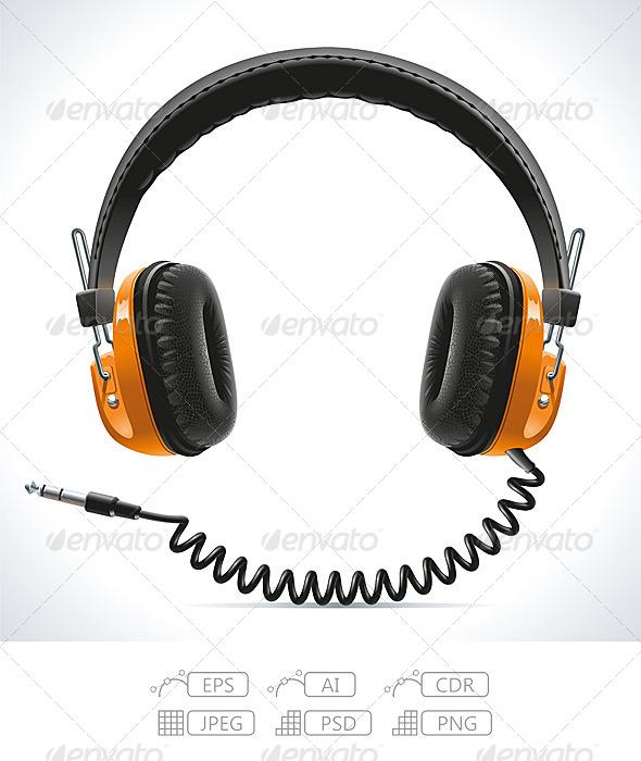 GraphicRiver Old Headphones 7442394