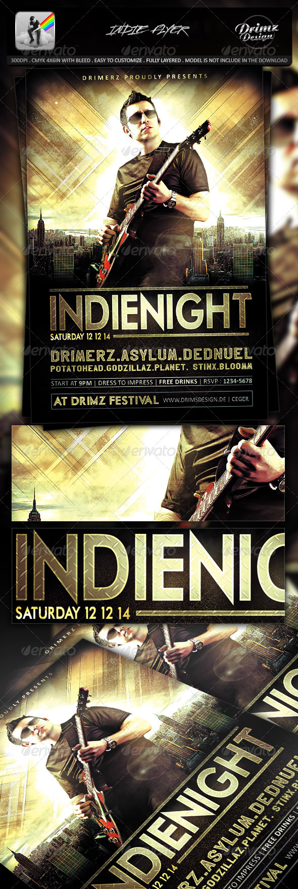 GraphicRiver Indie Flyer 7445649