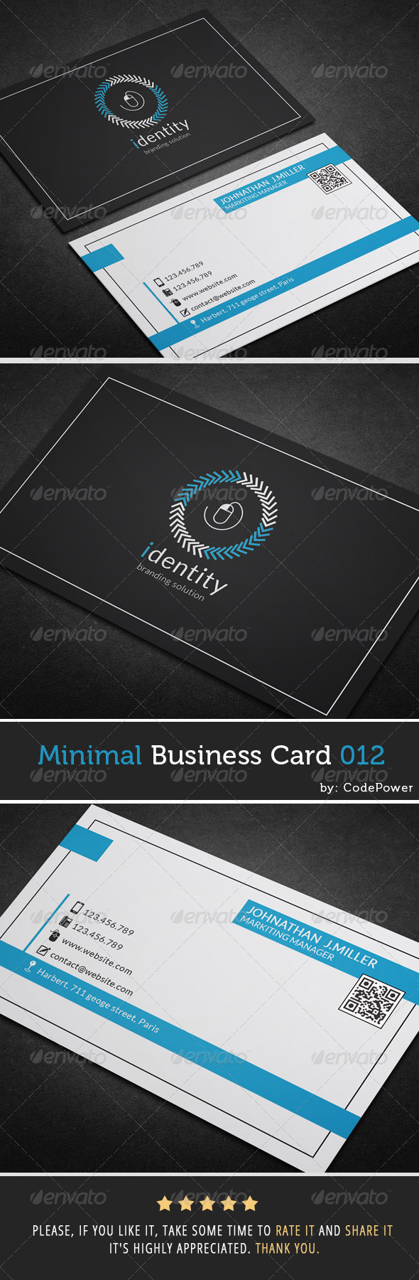 GraphicRiver Minimal Business Card 012 7410084
