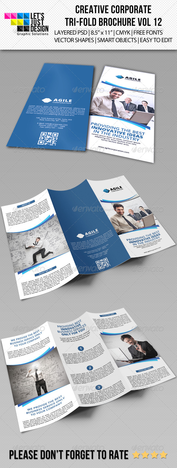 GraphicRiver Creative Corporate Tri-Fold Brochure Vol 12 7447187