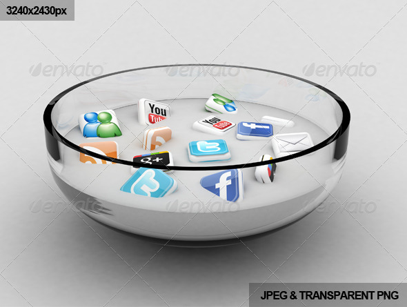 Social Media Soup - 3D Backgrounds