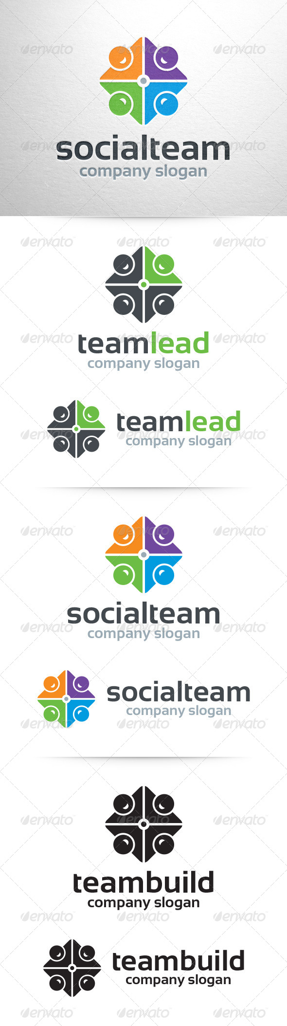 GraphicRiver Team Logo Template 7447260