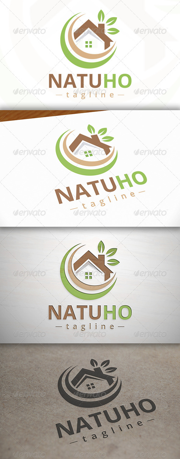 GraphicRiver Nature Home Logo 7447414
