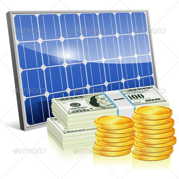 GraphicRiver Solar Panel with Money 7448052