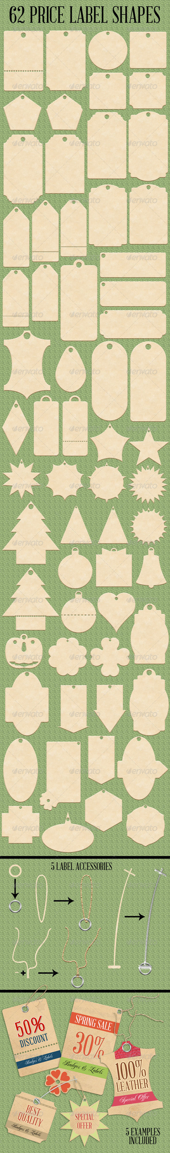 GraphicRiver 62 Price Label Shapes 7448169