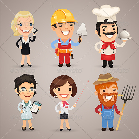 GraphicRiver Professions Cartoon Characters Set 1.2 7414498
