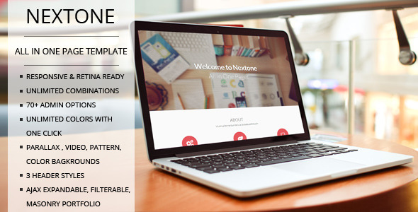 ThemeForest TD Nextone Responsive One Page Joomla Template 7449990