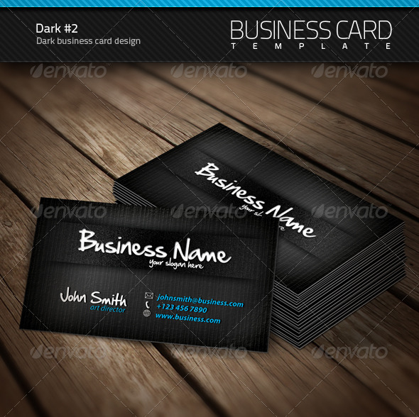 Dark Business Card - Creative Business Cards
