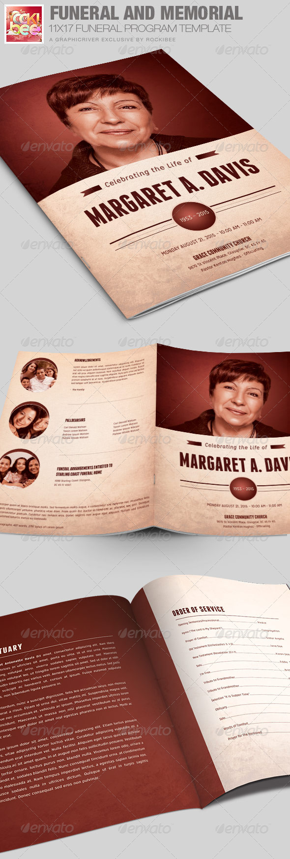 GraphicRiver Funeral and Memorial Program Template 7451860