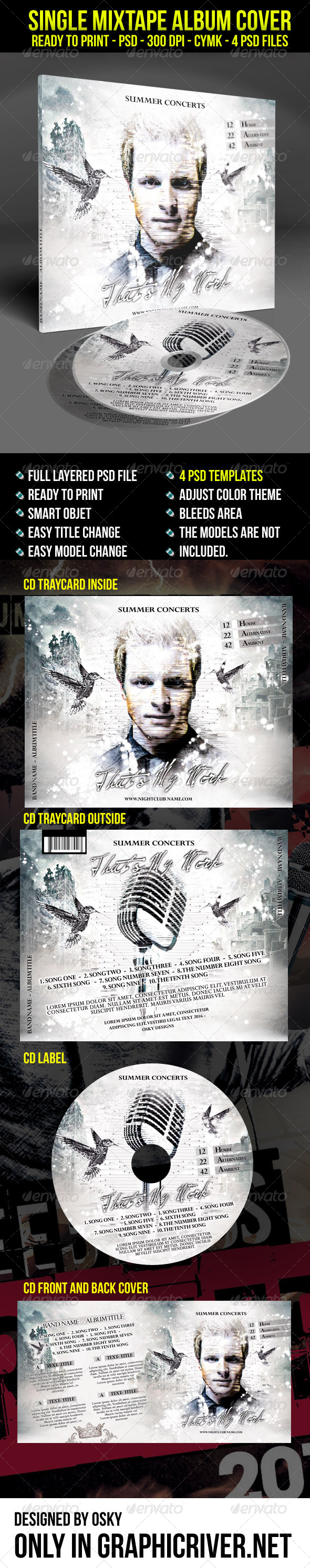 GraphicRiver Single Mixtape Album Cover 7451865