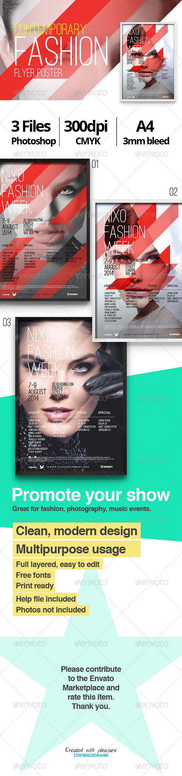 GraphicRiver Contemporary Fashion Flyer Poster A4 7446809