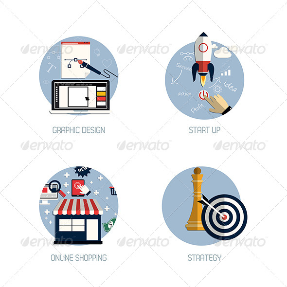 GraphicRiver Start Up Graphic Design Icons 7454141