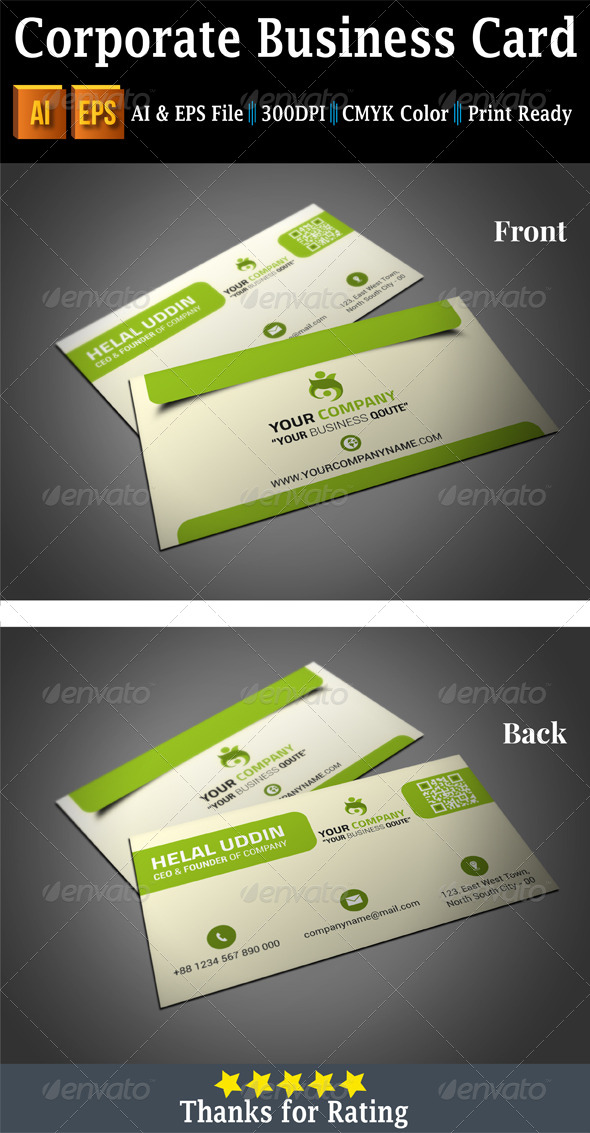 GraphicRiver Corporate Business Card 7454445