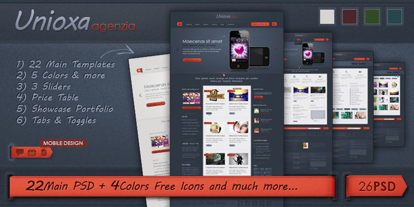 ThemeForest Unioxa PSD Theme Portfolio Agency Business 648310