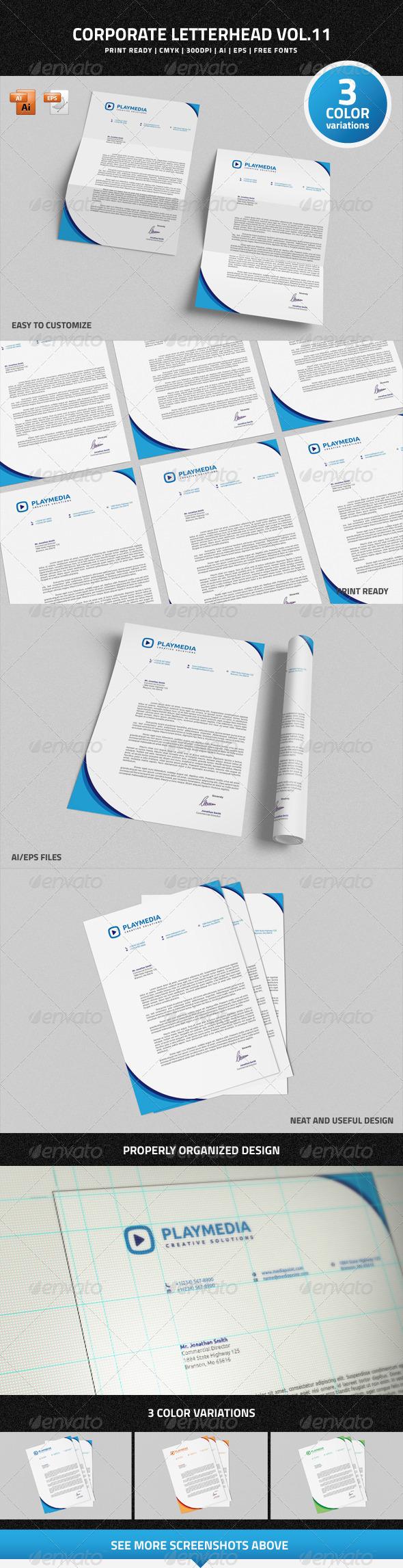 GraphicRiver Corporate Letterhead vol.11 7456765