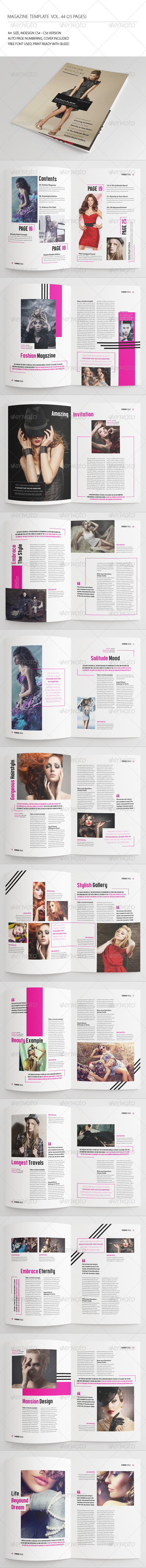 GraphicRiver 25 Pages Fashion Magazine Vol44 7457822