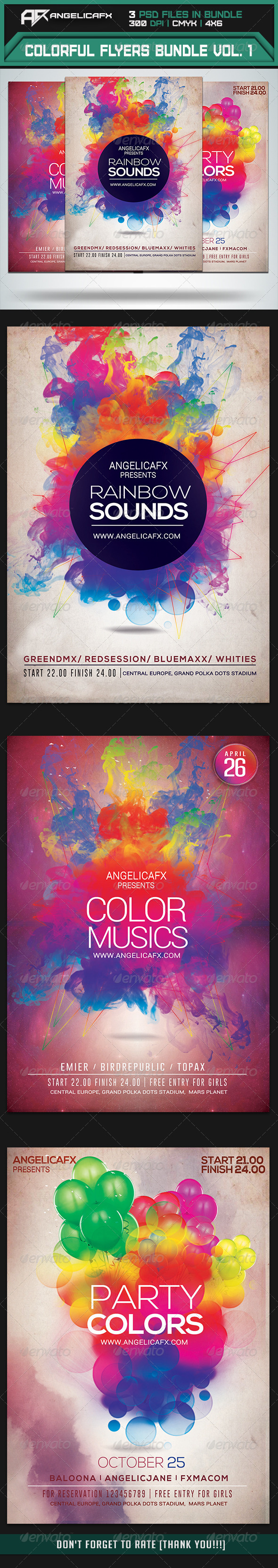 GraphicRiver Colorful Flyers Bundle Vol 1 7412321