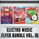Electro Music Flyer Bundle Vol. 10 - GraphicRiver Item for Sale