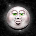Full Moon Smiling Face 3D - PhotoDune Item for Sale