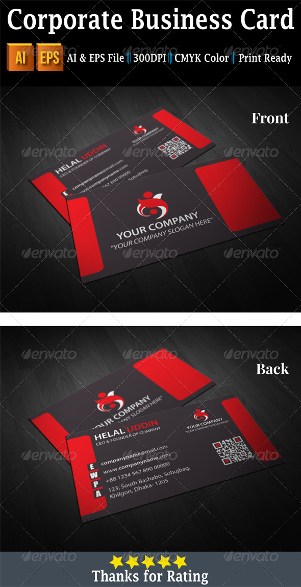 GraphicRiver Corporate Business Card 7458746
