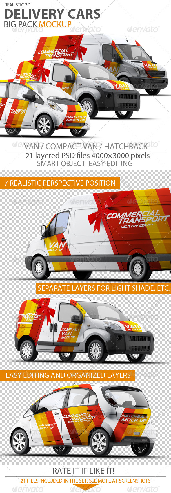GraphicRiver Cars Mock-up 7458815