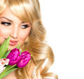 Beauty Woman with Spring Flower bouquet - PhotoDune Item for Sale