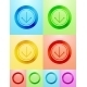 Vector flat circle button design - GraphicRiver Item for Sale