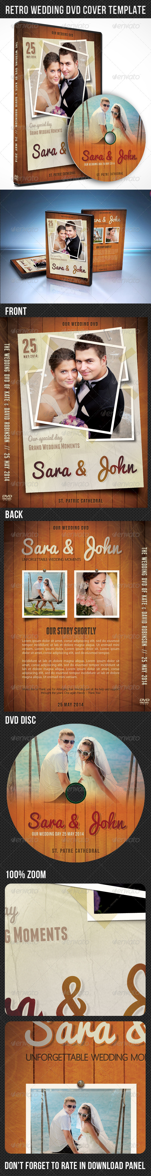 GraphicRiver Retro Wedding DVD Cover Template 02 7459048