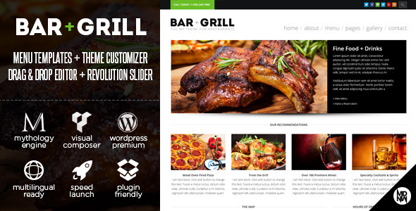ThemeForest Bar & Grill WP for Restaurants & Local Businesses 6608044
