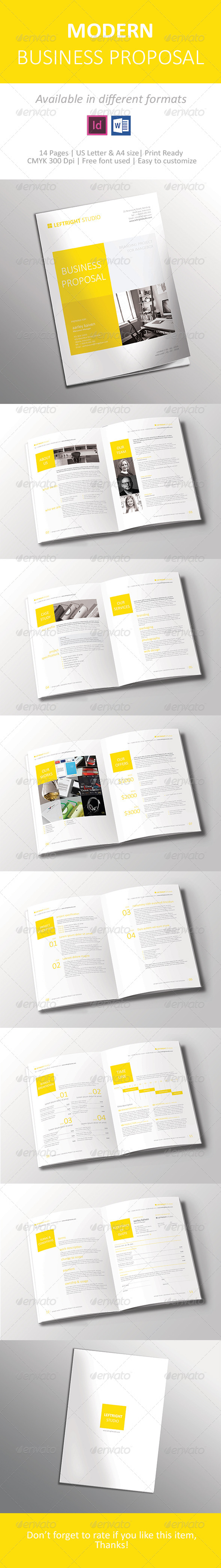 GraphicRiver Modern Business Proposal 7459513