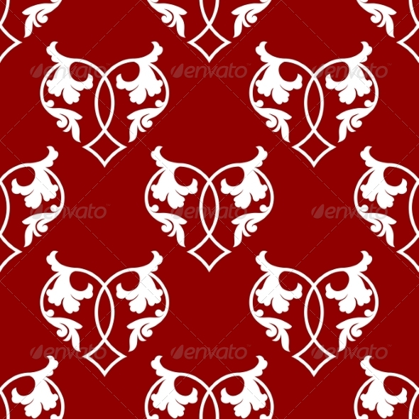 GraphicRiver Seamless Pattern of Floral Hearts 7459582