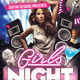 Girl Night GNO Theme Flyer - GraphicRiver Item for Sale
