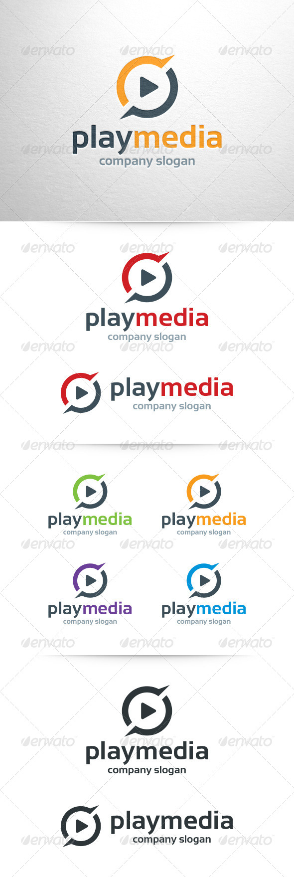 GraphicRiver Play Media Logo Template 7459996